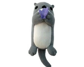 Plush Otter Toy, Ready Made Otter, Stuffed Otter Toy, Otter Plush, Stuffed Animal Toy, Stuffed Otter Baby Toy, Otter Plushy Toy, Stuffed Toy