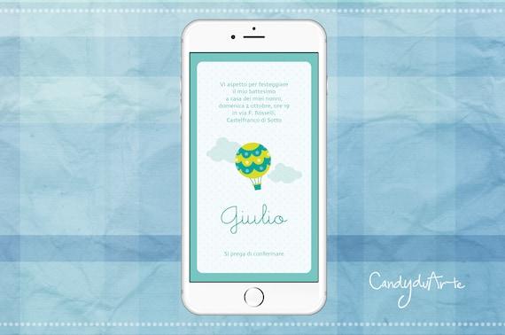 Invitation For Baptism Sms. Digital invitation baptism baby christening Whatsapp sms cloud