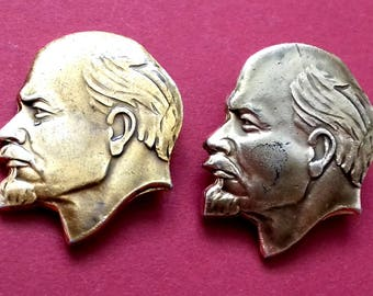 Lenin. Pick from set. Vintage collectible badge, Pin, Russia, Soviet Union, Made in USSR, 1970s
