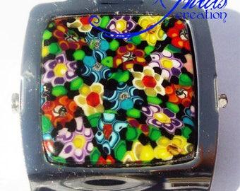 large magnet clip millefiori flowers 5 * 4cm