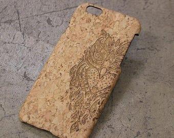 20% SALE Owl Henna Cork iPhone case, iphone 6 case, bird iphone 6 plus case, galaxy s5 s6 case, samsung galaxy s4 case, iphone 5c case cover