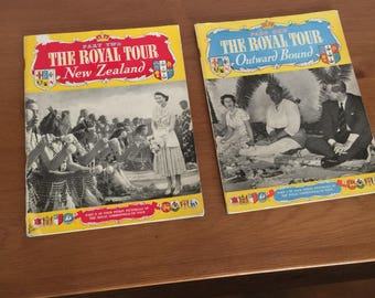 Vintage Royal Tour books x2