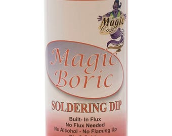 Magic Boric - 16 oz Bottle Jewelry Gold Silver & Platinum Metal Soldering Flux Dip - CLN-190.00