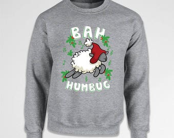 Funny Christmas Sweater Xmas Jumper Holiday Present Christmas Gift Ideas Xmas Outfit Holiday Hoodie Christmas Sweatshirt Bah Humbug TEP-647