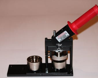 "1.5"" Round Fabric + Paper Round Button Press  - Paper and Fabric Button Maker by Tecre #150 1.5"" 1 1/2 Fabric Button Press Machine Maker"