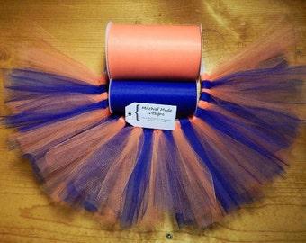 New York Mets Inspired Custom Tutu - orange & royal blue tulle pet tutu, New York Knicks, New York Islanders Dog Tutu, Princess Tutu
