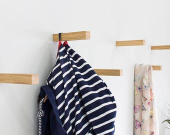Oiled Solid Oak Coat Hooks   Straight   Coat Hook   Wall Hooks   Universal Wall Hook ***New Product***