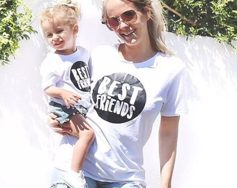 BEst friends mom t-shirt  MOMMY and me  Best friends dad  Dad son matching shirts   Mon and Son   bff kids   Famil T-shirts friends forever
