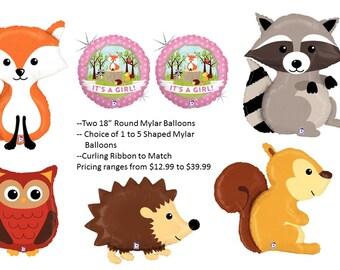 "Woodland Creatures ""Its A Girl"" Balloon Set"