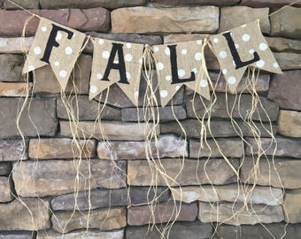 Fall burlap banner, fall banner, fall garland, fall decor, fall burlap garland, fall decoration, burlap fall banner, fall sign, fall bunting