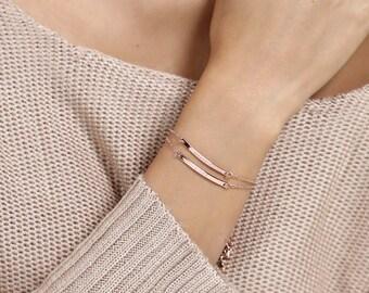 Greek Date Custom Bracelet Bridesmaid Bracelet Gift for Bride mother in law gift mother of the bride gift - 1BR