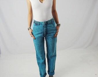 RARE Wrangler Acid Wash Jeans; Women's Vintage High Waisted Wranglers Size 26/27 Waist