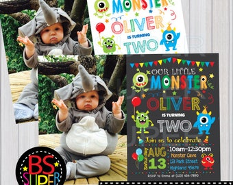 Monster Birthday Invitation , Little Monster Birthday Party , 1st Birthday Monster Invitation, Monster party invite