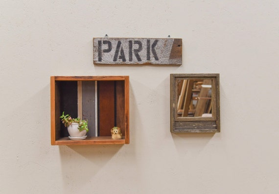 Hand painted 'Park' barn wood sign, farmhouse chic, rustic decor, farmhouse sign, housewarming gift, home sweet home, gift for her, handmade