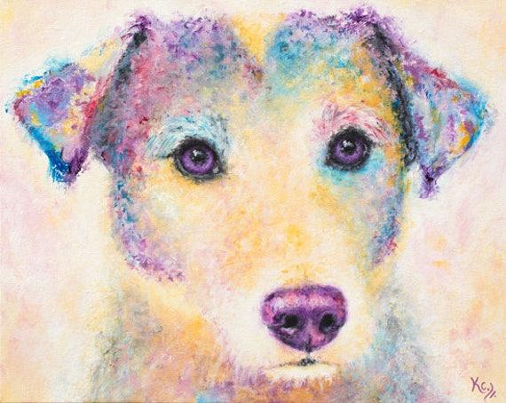 Jack Russell Terrier Art Print - Dog Art, Jack Russell Terrier Gift, Jack Russell Terrier Print, Dog Art Print. A Unique Dog Owner Gift!