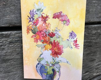 Greeting Card: Blind Contour Bouquet