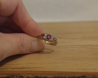 9ct Ruby and Diamond Ring, Vintage