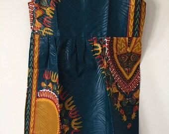 Ethnic child green Dashiki dress