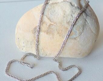 Sterling Silver Wheat Chain,Palma Chain Necklace, Silver Braided Chain 925 Unique  Necklace, Retro Chain, Thick Chain Necklace, Unisex Chain