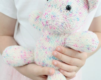 Unicorn Knitting Pattern - Childrens Knitted Toy, PDF Pattern, Girls Pony Plushie/ Softie, Sprinkles the Unicorn, MLP, Unicorn,