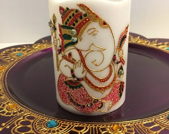 Henna Party Gifts : Moroccan candle henna mehndi candles party