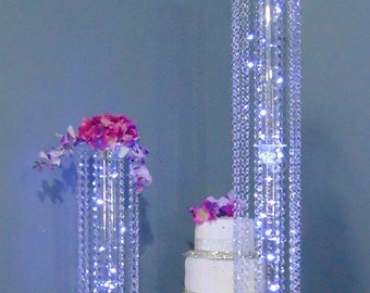 Timeless Acrylic Crystal Dangle Event & Wedding Centerpiece