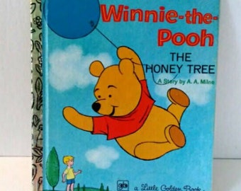 Winnie the Pooh children's book-The Honey Tree-by A.A. Milne, Walt Disney, a Little Golden Book, 1979, good condition, children's reading