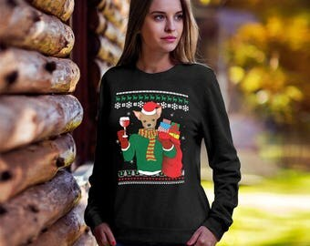 Chihuahua Dog Ugly Christmas Sweater,Funny Christmas sweater, Ugly xmas dog, Christmas tee, ugly sweater party, Chihuahua mom