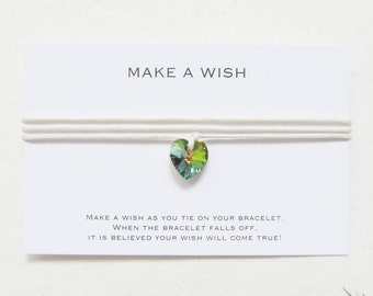 Wish bracelet, make a wish bracelet, swarovski bracelet, love bracelet, friendship bracelet