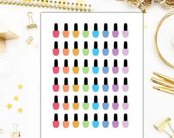 40% OFF SALE Nail Polish Stickers, Paint Nails Planner Stickers – Will fit any planner– 1489