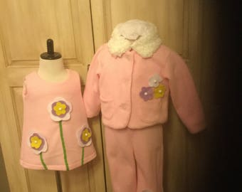 Children's 3 piece set Jumper,Jacket,and pant. toddlers size 1-4