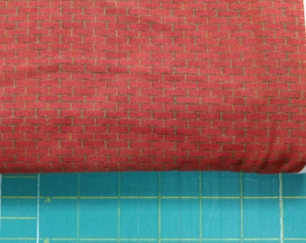 Tunnel Vision fabric. Red bricks stones boy construction equipment quilters quilting cotton T Tank VIP 016542423252