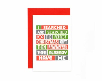 Funny Christmas Card | For Wife | For Husband | Gift | Cheeky | For Mum | For Dad | For Girlfriend | For Boyfriend | Blank | SEC0018A6