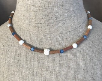 Kyanite and Howlite Diffuser Necklace