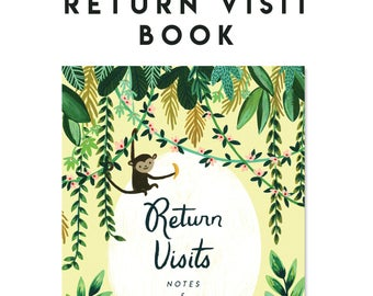 Return Visit Book - 4x6 Notebook -- Rejoice In The Hope, Pioneer School Gift, JW Baptism Gift, JW Gift, Jehovah's Witnesses, JW.org
