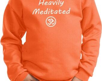 Kid's Yoga Sweatshirt Heavily Meditated with OM Sweat Shirt = PC90Y-HEAVILYOM