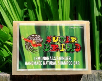200g/7oz Super Dread Lemongrass and Ginger Dreadlock Shampoo Bar