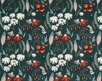Campsite Gatherings / custom fabric