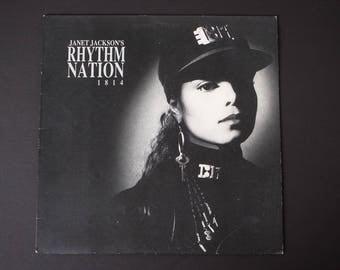 1989 JANET JACKSON | Rhythm Nation 1814 | A&M SP 3920 | Vintage Vinyl Album | Escapade