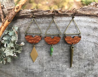 Wooden Earrings - Exotic Leopardwood