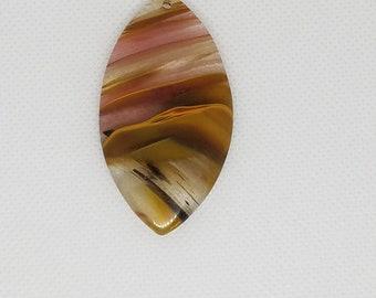 Unique Cherry Quartz Genuine Stone Pendant Large!  56 x 31 x 6mm
