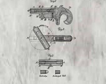 Breech Loading Firearm Patent #43259 Dated June 21, 1864.