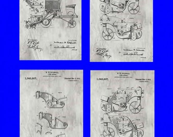 Group of Four Farm Patents #1403507 dated November 5, 1912. Available in various sizes and backgrounds.