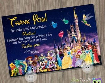 Disney Invitation Disney Girl Invitation Disney Characters