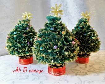 fabric christmas tree decoration knitted christmas tree decoration  christmas tree christmas green & gold christmas table decoration