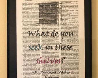 What do you seek in these shelves?; Mr. Penumbra; Gifts for readers;