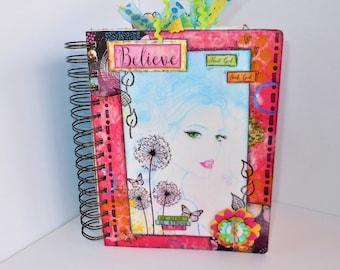 Junk Journal, Journal, Faith Journal, Women's Journal, Handmade Journal, Notebook