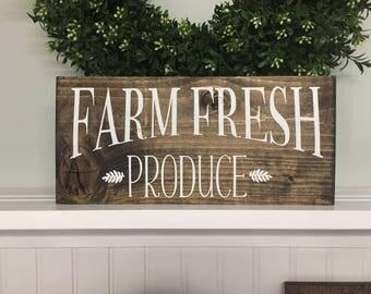 Farm Fresh Produce, Farm Fresh Produce sign, Farm sign,  Farmers Market sign, Produce sign, Wood sign, wooden sign, custom wood sign
