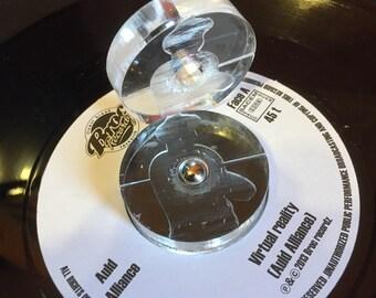 Vinyl Turntable 45 Turns Custom PLEXIGLASS Turntable / Adapter