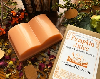 Pumpkin Juice Bar Soap - Book Lovers Gift - Pumpkin Spice Soap Handmade